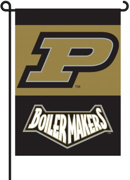 Purdue Boilermakers NCAA Team Logo 2-Sided Outdoor Garden Flag