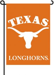 Texas Longhorns NCAA Team Logo 2-Sided Outdoor Garden Flag