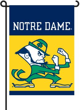 Notre Dame 2-Sided Outdoor Garden Flag Gold & Blue