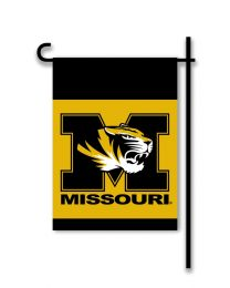 Missouri Tigers College Team Logo 2-Sided Outdoor Garden Flag