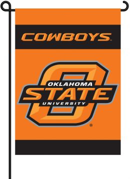Oklahoma State Cowboys Team Logo 2-Sided Outdoor Garden Flag