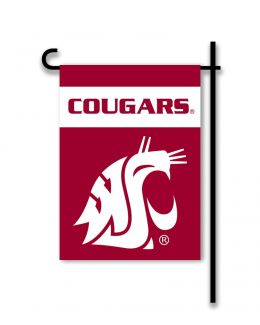 Washington State Cougars NCAA Team Logo 2-Sided Garden Flag