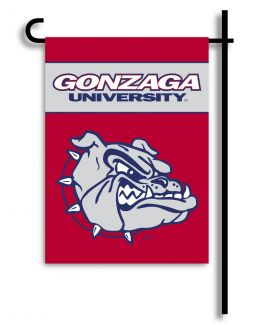 Gonzaga Bulldogs College Team Logo 2-Sided Outdoor Garden Flag