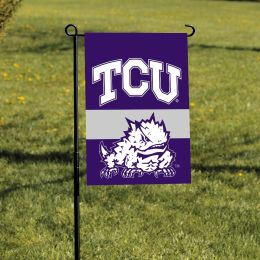 Texas Christian Horned Frogs Team Logo 2-Sided Outdoor Garden Flag