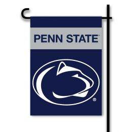 Penn State Nittany Lions College Team Logo 2-Sided Garden Flag