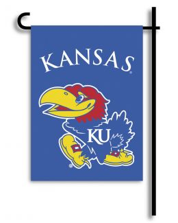 Kansas Jayhawks 2-Sided Outdoor Garden Flag College Team Logo