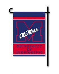 Mississippi Rebels 2-Sided Outdoor Garden Flag College Logo