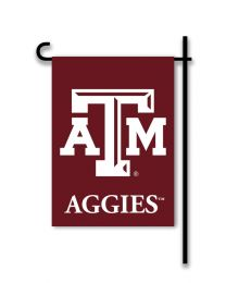 Texas A&M Aggies College Team Logo 2-Sided Outdoor Garden Flag