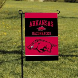 Arkansas Razorbacks 2-Sided NCAA Team Logo Garden Flag