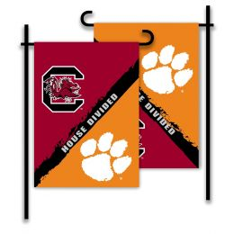 Clemson vs S. Carolina 2-Sided Garden Flag Rivalry House Divided