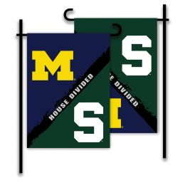 Michigan vs Michigan St. 2-Sided Garden Flag House Divided