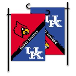 Kentucky vs Louisville 2-Sided Garden Flag Rivalry House Divided