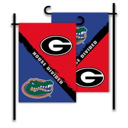 Georgia vs Florida 2-Sided Garden Flag Rivalry House Divided