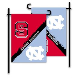 N. Carolina vs Nc State 2-Sided Garden Flag Rivalry House Divided