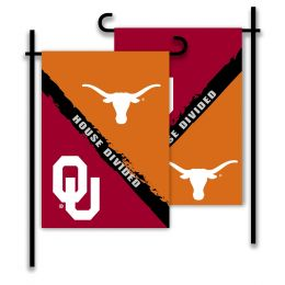 Oklahoma vs Texas 2-Sided Garden Flag Rivalry House Divided