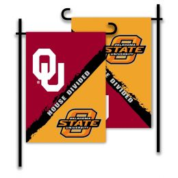 Oklahoma vs Oklahoma State 2-Sided Garden Flag House Divided
