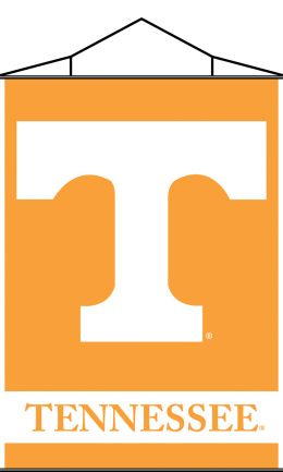 Tennessee Volunteers Indoor Banner Scroll w/ Hanger String Team Logo