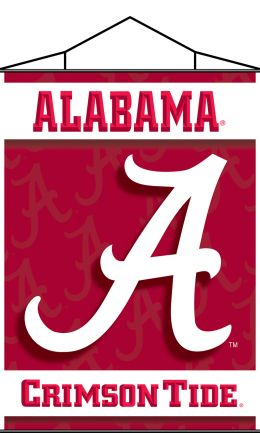 Alabama Crimson Tide Indoor Scroll Logo Wall Banner