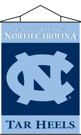 North Carolina Tar Heels Indoor Banner Scroll w/ Hanger String