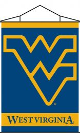 West Virginia Mountaineers Indoor Banner Scroll w/ Hanger String
