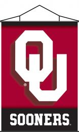 Oklahoma Sooners Indoor Banner Scroll College Team Logo