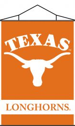 Texas Longhorns NCAA Team Logo Indoor Banner Scroll w/ Hanger String