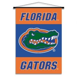 Florida Gators Indoor Banner Scroll w/ Hanger String NCAA Logo