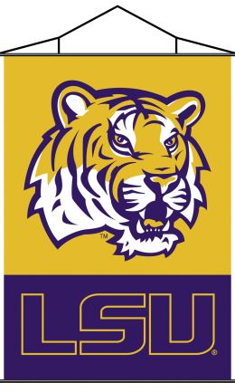 Louisiana State Tigers Indoor Banner Scroll w/ Hanger String