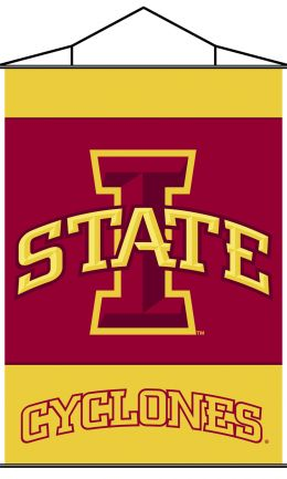 Iowa State Cyclones Indoor Banner Scroll w/ Hanger String