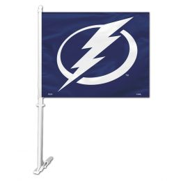 Tampa Bay Lightning NHL Team Logo Car Flag w/Wall Brackett