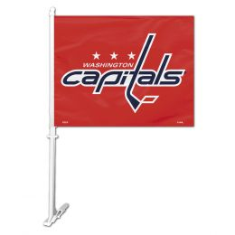 Washington Capitals Car Flag w/Wall Brackett NHL Team Logo