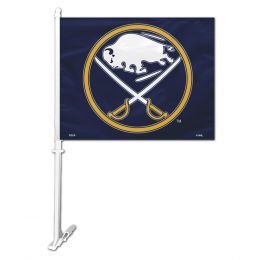 Buffalo Sabres NHL Team Logo Car Flag w/Wall Brackett