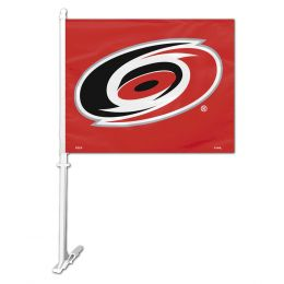 Carolina Hurricanes Car Flag w/Wall Brackett  NHL Team Logo