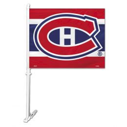 Montreal Canadiens Car Flag w/Wall Brackett NHL Team Logo