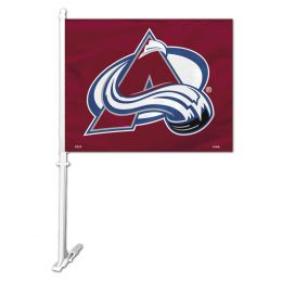 Colorado Avalanche NHL Team Logo Car Flag w/Wall Brackett