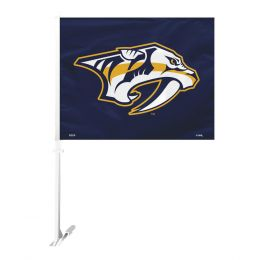 Nashville Predators Car Flag w/Wall Brackett  NHL Team Logo