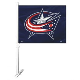 Columbus Blue Jackets Car Flag w/Wall Brackett NHL Team Logo