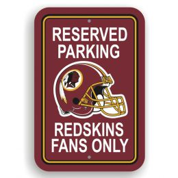 Washington Redskins Logo Plastic Reserved Parking Sign