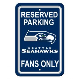 Seattle Seahawks NFL Plastic Parking Sign Reserved Parking