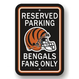 Cincinnati Bengals NFL Team Logo Plastic Reserved Parking Sign