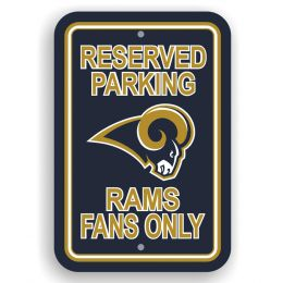 St. Louis Rams Plastic Parking Sign Reserved Parking NFL Team Logo