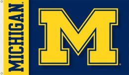 Michigan Wolverines Logo 2-Sided 3' x 5' Flag w/Grommets