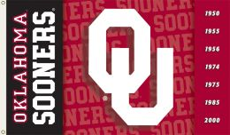 Oklahoma Sooners College Logo 2-Sided 3' x 5' Flag w/Grommets