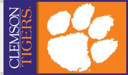 Clemson Tigers 2-Sided NCAA Team Logo 3' x 5' Flag w/Grommets