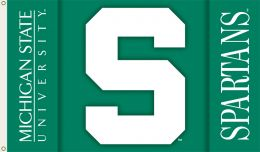 Michigan State Spartans Team Logo 2-Sided 3' x 5' Flag w/Grommets