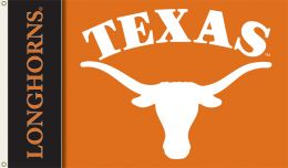 Texas Longhorns College Team Logo 2-Sided 3' x 5' Flag w/Grommets