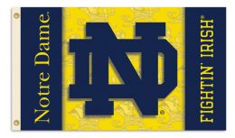 Notre Dame NCAA Team Logo 2-Sided 3' x 5' Flag w/Grommets