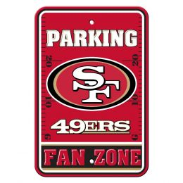 San Francisco 49Ers NFL Team Logo Plastic Parking Sign Fan Zone