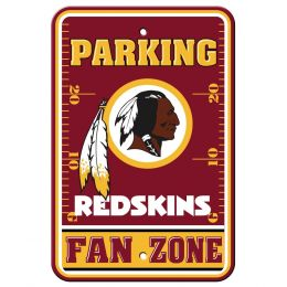 Washington Redskins College Team Logo Plastic Parking Sign - Fan Zone
