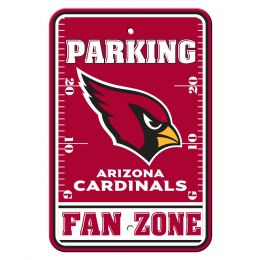 Arizona Cardinals Plastic Fan Zone NFL Parking Sign